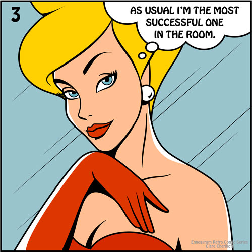 Retro comic enneagram type three most successful